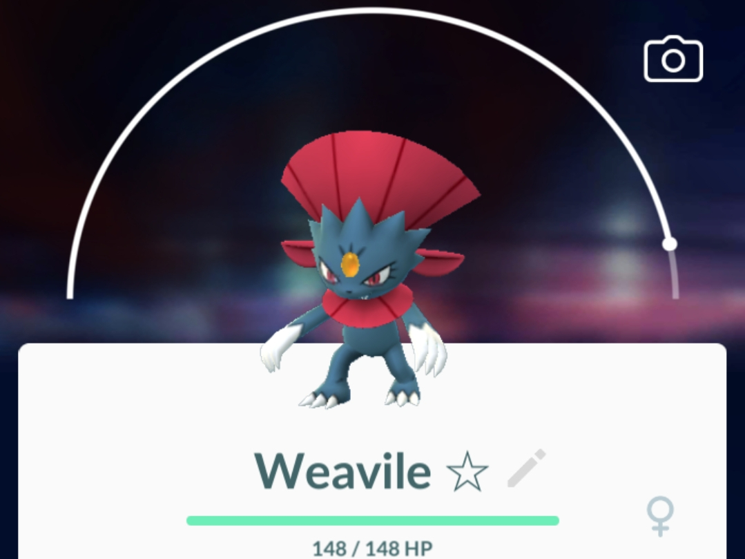 100% IV Weavile from Sneasel Research Pay 2021